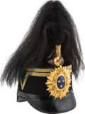Militaria:Helmets, Swedish Officers' Shako With Parade Plume, Circa Late 19th Century....