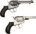 Handguns:Double Action Revolver, Lot of Two Colt Model 1877 Double Action Revolvers.... (Total: 2 Items)