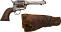 Handguns:Single Action Revolver, Colt Single Action Army Revolver with Leather Holster....