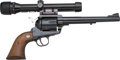 Handguns:Single Action Revolver, Ruger New Model Blackhawk Single Action Revolver with Telescopic Sight....