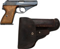 Handguns:Semiautomatic Pistol, German Mauser Model HSC Semi-Automatic Pistol with Leather Holster....