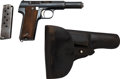 Handguns:Semiautomatic Pistol, Astra Model 300 Semi-Automatic Pistol with Leather Holster....