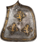 Militaria:Armor, Etched and Gilded German Tilting Grand Guard, 19th Century....