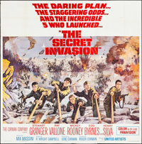 "The Secret Invasion (United Artists, 1964). Folded, Very Fine-. Six Sheet (79"" X 79.5""). Howard Terpning Artwo..."
