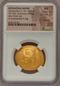 Ancients:Byzantine, Ancients: Constantine X Ducas (AD 1059-1067). AV histamenon nomisma(30mm, 4.44 gm, 6h). NGC MS 4/5 - 3/5, crimped. ...