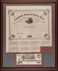 Confederate Notes:Group Lots, Ball 212 Cr. 120 $100 1863 Bond;. T39 $100 1862 PF-5 Cr. 292.. ...