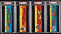 Basketball Cards:Lots, 1969 Topps Rulers Basketball PSA Graded Collection (8)....