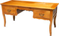 Furniture , A French Provincial Pine Desk, 19th century. 30-1/2 x 64 x 27-1/4 inches (77.5 x 162.6 x 69.2 cm). ...