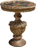 Furniture , An Italian Carved, Gilt, and Painted Wood Side Table, late 19th century . 24-3/4 x 20 inches (62.9 x 50.8 cm). ...