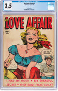 Golden Age (1938-1955):Romance, My Love Affair #2 (Fox Features Syndicate, 1949) CGC VG- 3.5 Creamto off-white pages....