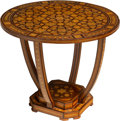Furniture , A Moroccan Intarsia Occasional Table, mid-20th century . 19-3/4 x 24 inches (50.2 x 61.0 cm). ...