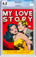 Golden Age (1938-1955):Romance, My Love Story #4 (Fox, 1950) CGC FN+ 6.5 Slightly brittle pages....