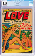 Golden Age (1938-1955):Romance, Top Love Stories #18 (Star Publications, 1954) CGC FR/GD 1.5 Creamto off-white pages....