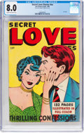 Golden Age (1938-1955):Romance, Fox Giants - Secret Love Stories (Fox Features Syndicate, 1949) CGC VF 8.0 Cream to off-white pages....