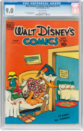 Golden Age (1938-1955):Cartoon Character, Walt Disney's Comics and Stories #112 (Dell, 1950) CGC VF/NM 9.0 Off-white pages....