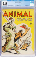 Golden Age (1938-1955):Funny Animal, Animal Comics #1 (Dell, 1942) CGC FN+ 6.5 Off-white to whitepages....