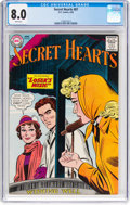 Silver Age (1956-1969):Romance, Secret Hearts #87 (DC, 1963) CGC VF 8.0 White pages....