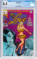 Silver Age (1956-1969):Romance, My Love #2 (Marvel, 1969) CGC VF+ 8.5 Off-white to white pages....