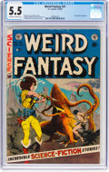 Golden Age (1938-1955):Science Fiction, Weird Fantasy #21 (EC, 1953) CGC FN- 5.5 Off-white to white pages....