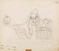 Animation Art:Production Drawing, Snow White and the Seven Dwarfs Old Hag with Apple AnimationDrawing (Walt Disney, 1937)....