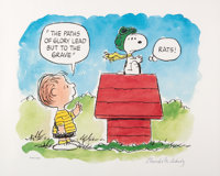 """The Flying Ace"" Linus and Snoopy Limited Edition Lithograph #342/500 (Charles M. Schulz/United Feature Syndic..."