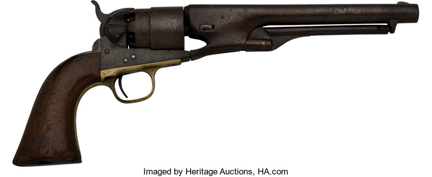 309c4a6e2be Civil War Carried Colt Model 1860 Army Single Action Revolver