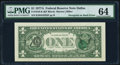 Error Notes:Third Printing on Reverse, Overprint on Back Error Fr. 1910-K $1 1977A Federal Reserve Note. PMG Choice Uncirculated 64.. ...