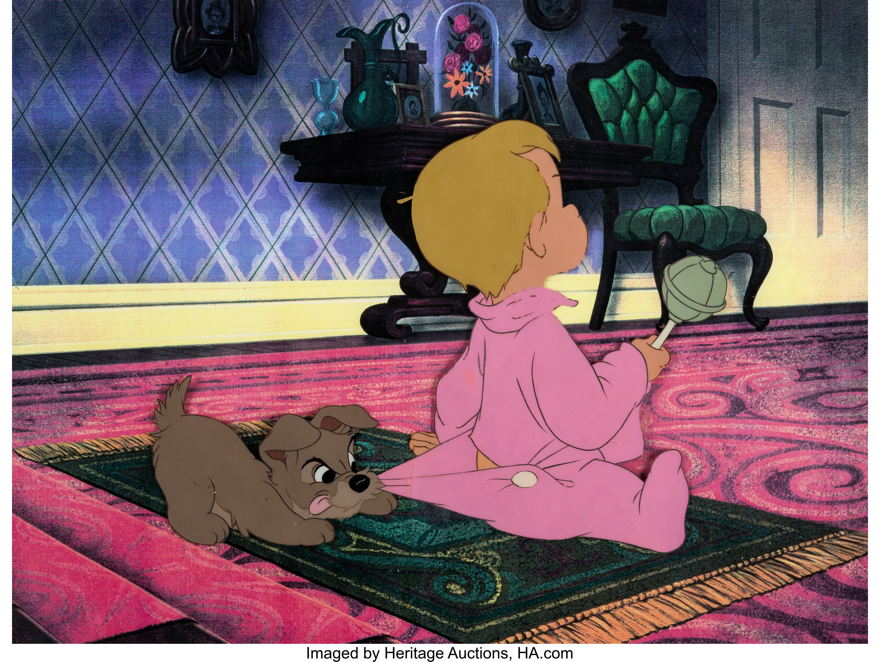 Lady And The Tramp Scamp And Baby Dear Production Cel Walt Disney Lot 97198 Heritage Auctions