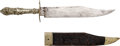 Edged Weapons:Knives, California Tillotson Sheffield Clip-Point Bowie Knife....