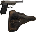 Handguns:Semiautomatic Pistol, German byf Code 44 P38 Semi-Automatic Pistol with Leather Holster....