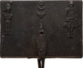 Antiques:Decorative Americana, Hessian Soldiers: Early Waffle Iron....