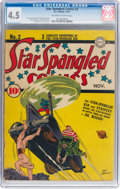 Golden Age (1938-1955):Superhero, Star Spangled Comics #2 (DC, 1941) CGC VG+ 4.5 Off-white to white pages....