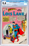 Silver Age (1956-1969):Superhero, Superman's Girlfriend Lois Lane #25 (DC, 1961) CGC NM 9.4 Off-whitepages....