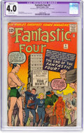 Silver Age (1956-1969):Superhero, Fantastic Four #9 (Marvel, 1962) CGC Apparent VG 4.0 Slight (C-1)Off-white pages....