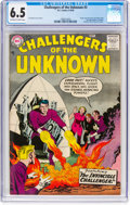 Silver Age (1956-1969):Superhero, Challengers of the Unknown #3 (DC, 1958) CGC FN+ 6.5 Off-white towhite pages....
