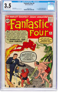 Silver Age (1956-1969):Superhero, Fantastic Four #6 (Marvel, 1962) CGC VG- 3.5 Off-white to white pages....