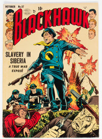 Blackhawk #57 (Quality, 1952) Condition: FN/VF