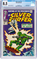 Silver Age (1956-1969):Superhero, The Silver Surfer #2 (Marvel, 1968) CGC VF+ 8.5 Off-white to whitepages....
