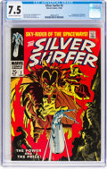 Silver Age (1956-1969):Superhero, The Silver Surfer #3 (Marvel, 1968) CGC VF- 7.5 Off-white to whitepages....