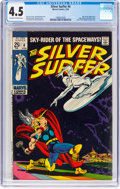 Silver Age (1956-1969):Superhero, The Silver Surfer #4 (Marvel, 1969) CGC VG+ 4.5 Off-white to whitepages....