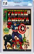 Silver Age (1956-1969):Superhero, Captain America #100 (Marvel, 1968) CGC FN/VF 7.0 Off-whitepages....