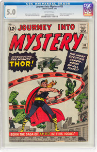 Journey Into Mystery #83 (Marvel, 1962) CGC VG/FN 5.0 Off-white pages