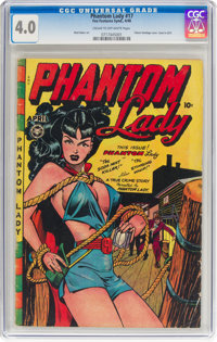 Phantom Lady #17 (Fox Features Syndicate, 1948) CGC VG 4.0 Cream to off-white pages
