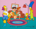 "Animation Art:Limited Edition Cel, The Simpsons ""The Simpstones"" Limited Edition Cel #53/350(Fox, 1999)...."