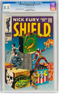 Silver Age (1956-1969):Superhero, Nick Fury, Agent of S.H.I.E.L.D. #1 (Marvel, 1968) CGC VF+ 8.5Off-white to white pages....