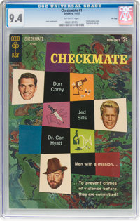 Checkmate #1 File Copy (Gold Key, 1962) CGC NM 9.4 Off-white pages