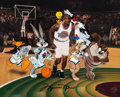 Animation Art:Limited Edition Cel, Space Jam Limited Edition Cel #5/500 Signed by MichaelJordan (Warner Brothers, 1997)....