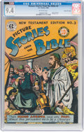 Golden Age (1938-1955):Religious, Picture Stories from the Bible New Testament #3 Gaines File Pedigree 4/12 (EC, 1946) CGC NM 9.4 Off-white pages....