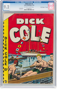 """Dick Cole #4 Davis Crippen (""""D"""" Copy) Pedigree (Curtis, 1949) CGC NM- 9.2 Off-white to white pages"""