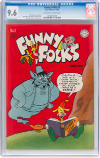 Funny Folks #2 (DC, 1946) CGC NM+ 9.6 Off-white to white pages